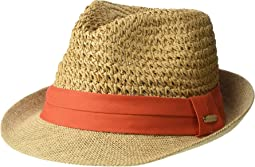 Paper Crochet Straw Fedora with Woven Band