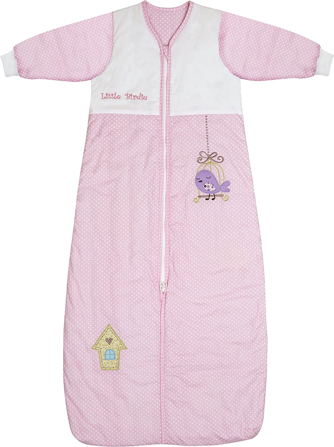 Slumbersafe Winter Sleeping Bag Long Sleeves 3.5 Tog - Little Birdie - various sizes  from birth up to 6 years (18-36 months)