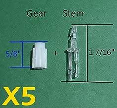 Asia Buy Blind Parts Vertical Blind Carrier Clip/Hook/Stem w/Gear-5 Sets- No Carrier