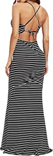 SheIn Women's Strappy Backless Summer Evening Party Maxi Dress