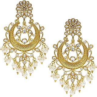 Indian Traditional Chandbali Dangle Earring Ethnic Festive Bollywood Wedding Jewelry for Women Her