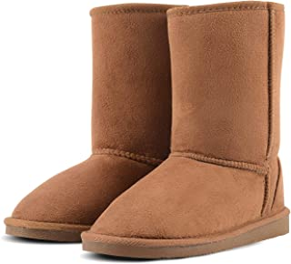 KushyShoo Womens Boots, Fully Fur Lined Waterproof Booties, Resistant Winter Snow Boots for Women