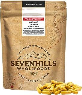 Sevenhills Wholefoods Ekologiskt Gurkmeja Kapsuler 180 x 500mg
