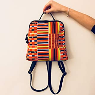 5a8df3fc68ef backpack for woman wax print african print ankara print ethnic geometric  orange