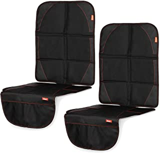Diono Two2Go Ultra Mat, Car Seat Protector, Black (2-Pack)