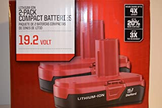 Craftsman 19.2-Volt Battery Lithium-Ion Two PP2011 Battery Packs