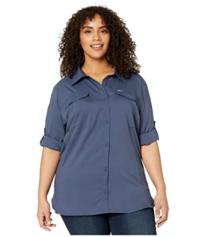 Columbia Plus Size Silver Ridge Lite Long Sleeve Shirt (Nocturnal) Women