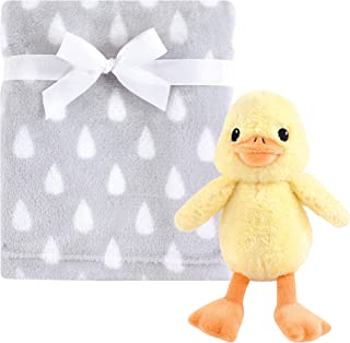 Hudson Baby Unisex Baby Plush Blanket with Toy, Yellow Duck 2 Piece, One Size