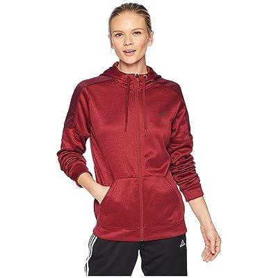 adidas Team Issue Full Zip Hoodie (Noble Maroon/Night Red) Women