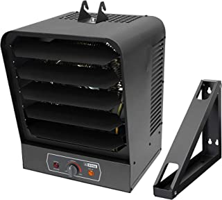 KING GH2405TB 240 Volt 5,000 Watt Garage Heater with Bracket and Thermostat, 5,000-Watt, Gray