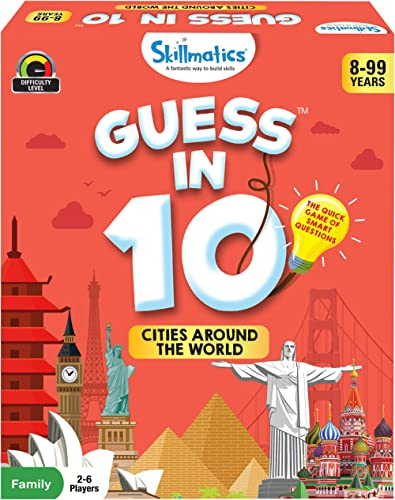 Skillmatics Guess in 10 Cities Around The World / Card Game of Smart Questions / General Knowledge for Kids, Adults a...