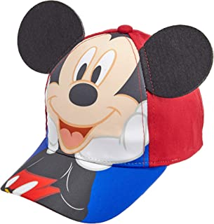Toddler Boys Mickey Mouse Cotton Baseball Cap Age 2-4 Red and Blue