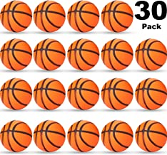 Sports Stress Ball, Mini Foam Squeeze Sports Ball, Foam Squeeze Sports Ball for School Carnival Reward, Party Bag Gift Fillers (Basketball, 30 Packs)