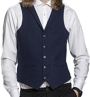 HARRY BROWN Navy Wool Blend Waistcoat 38R to 48R
