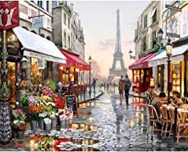 Europe City Street DIY Painting By Numbers Home Decoration Handpainted Abstract Oil Painting For Living Room Artwork 16x20...