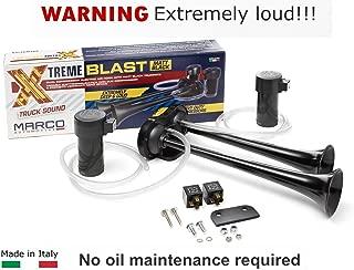Super Loud 148DB Marco Extreme Blast Premium Air Horn Car Truck SUV (BLACK MATTE)