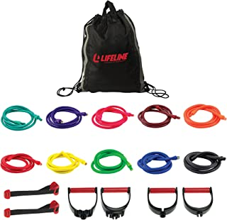 Lifeline Ultimate Resistance Trainer Kit with 10 Cables for a Wide Variety of Total Resistance Levels