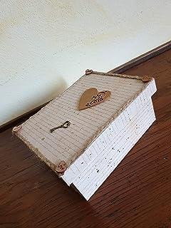 Scatola Vintage in legno con cuore & chiave, Idea regalo, San Valentino, Anniversario