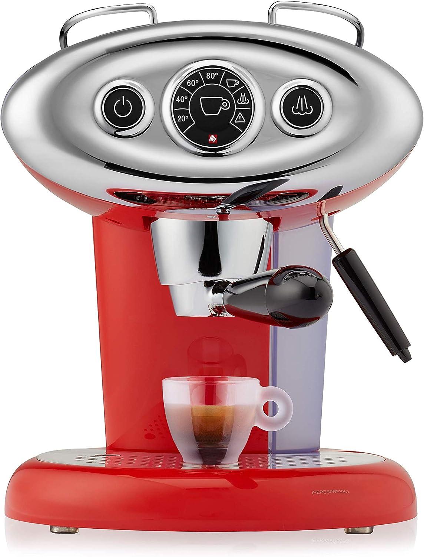 Illy caffè, Máquina de café espresso compatible con cápsulas Iperespresso X7.1, color rojo
