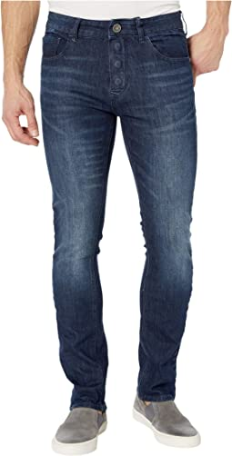 Adaptive Slim Straight Jeans w/ Magnetic and Micro Velcro® Closure in Vouvant Dark