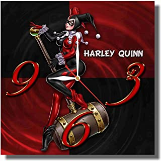 Art time design studio HARLEY QUINN WALL CLOCK Quiet Sweep Movement Decorative Battery Operated 11,8 Inch devoted fans DC comics.