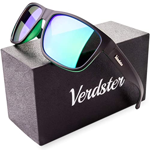 905c0074c8 Verdster Mirrored Polarized Sunglasses for Men   Women - Trendy   Stylish  Black Shades - Comes