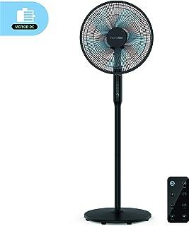 UNIVERSALBLUE | Ventilador de pie Silencioso Negro | Mando a Distancia | 24 velocidades | Modo Eco | Motor DC