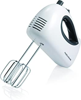 Morphy Richards 400510 Hand Mixer, 2 Stainless Steel Whisks, 300W, White