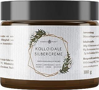Kolloidales Silber Creme • 100g | Natürliche Silbercreme mit Silberwasser 100 ppm | Premium Qualität aus Deutschland