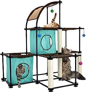 مجموعة اثاث كلو ميغا كيت للقطط تضم بيوت شقق والعاب واشجار من كيتي سيتي 3 levels SPO-0587