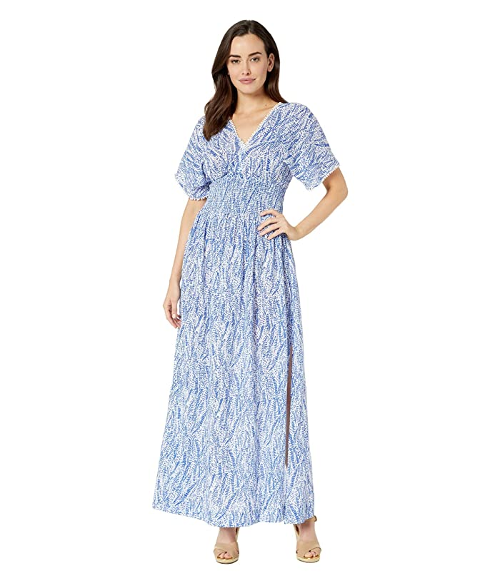 Heidi Klein Amoudi Bay Smock Waist Maxi Dress (Print) Women
