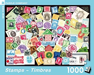 New York Puzzle Company - Stamps ~ Timbres - 1000 Piece Jigsaw Puzzle