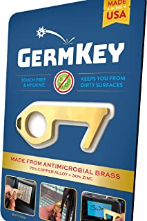 YouTheFan USA GermKey Brass No Touch Hand Tool