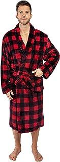PAVILIA Mens Plush Fleece Robe | Soft, Warm, Spa Bathrobe for Men, Shawl Collar