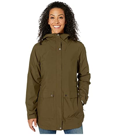 Columbia Here and Theretm Insulated Trench Jacket (Olive Green Lattice Emboss) Women