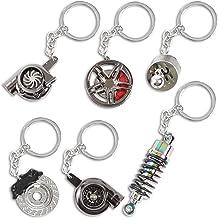 Car Parts Keychain Set (Metal, 6 Pieces)