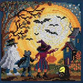 Moonlit Treaters Beaded Counted Cross Stitch Kit Mill Hill 2017 Buttons & Beads Autumn MH141724