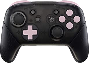 eXtremeRate Sakura Pink Repair ABXY D-pad ZR ZL L R Keys for Nintendo Switch Pro Controller, Glossy DIY Replacement Full Set Buttons with Tools for Nintendo Switch Pro - Controller NOT Included