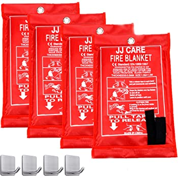 YTFGGY Fire Blanket Emergency Survival Fiberglass Fire Suppression Blanket Flame Retardant Shelter Safety Cover for Kitchen Fireplace Camping Grill Warehouse Car 39x39+ Gloves