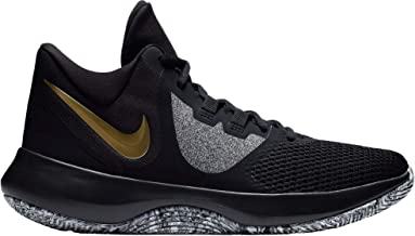 Nike Air Precision Ii Mens Basketball Shoes (14, Blk MTLC Gold Wht)