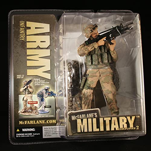 ARMY INFANTRY McFarlane's Military rotEPLOYED Series 2 Action Figure & Display Base by McFarlanes Military