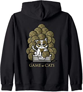 Game Of Cats - Balls of wool throne Zip Hoodie