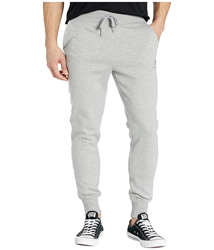 Converse  Brushed Back Fleece Jogger Pants (Vintage Grey Heather) Mens Casual Pants
