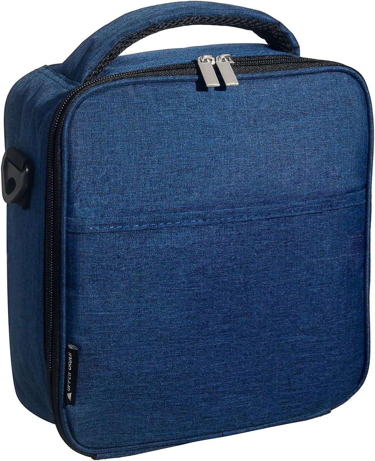 Upper Order Bolsa de almuerzo con aislamiento duradero y reutilizable (Azul)