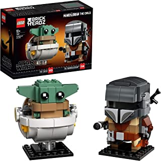 "LEGO75317BrickHeadzStarWarsTheMandalorian&TheChild""BabyYoda""CollectableModelBuildingSet"