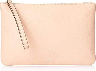 Oroton Women's Avalon Medium Zip Pouch, Dusty Pink, One Size