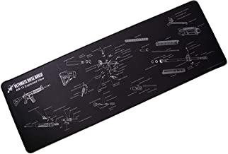 Ultimate Gun Cleaning Mat with Exploded Parts Diagram; Stitched Edges; 12