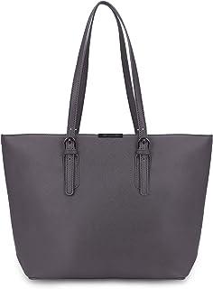 David Jones - Bolso de Mano Grande Mujer - Tote Bag Shopper Piel PU - Bolso de Hombro Trabajo Shopping Gran Capacidad Cuer...
