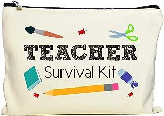 Moonwake Designs Teacher Survival Kit, Teacher Appreciation Gift, Teacher Makeup Bag, Teacher Pencil Pouch, Best Teacher Gift, Teacher Gifts For Women, Preschool, Elementary, High School