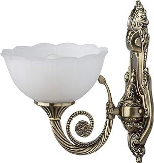 MW-Light 357020301 Applique Mural Intérieur Classique en Métal couleur Bronze Globe en Verre Brossé Ondulé pour Chambre Sa...